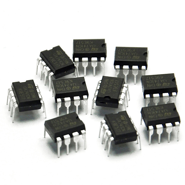 10x UA741CN DIP-8 LM741 ST Operational Amplifiers OP AMP IC